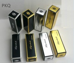 Packaging For Lipstick Australia - 50pcs gold silver Kraft Paper Box for Lipstick Essential Oil Perfume Sprays sample party favor box Lipstick packaging boxes