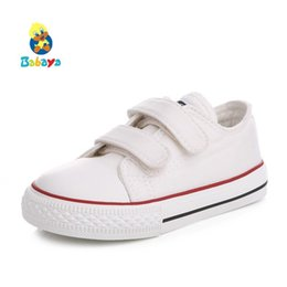 Baby Girl Summer Canvas Shoes Australia - Baby kids shoes for girl children canvas shoes boys 2017 new spring summer girls sneakers white fashion toddler shoes