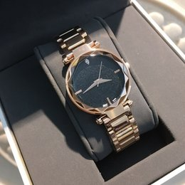 545991000d11 Drop shipping Rose Gold Famous Women Watch Japan Movement stainless Steel  Hot Sale Luxury Lady Wristwwatch Quartz Clock shine black Dial