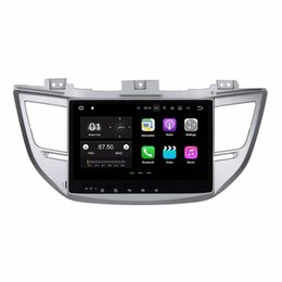 "car dvd player gps bluetooth tv UK - Android 7.1 Quad Core 10.1"" Car radio GPS Multimedia Head Unit Car DVD for Hyundai Tucson IX35 2015 2016 With Bluetooth WIFI Mirror-link"