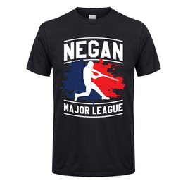 Negan-T-Shirt-Negan-Major-League-Shirt-Men-Sommer-Custom-Kurzarm-The-Walking-Tot-Negan