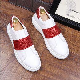 Eva Footwear Shoes Canada - New Men Leather Shoe Men Flats Shoes Fashion Casual Male Wedding Dress Shoes White Men Loafers Footwear G364