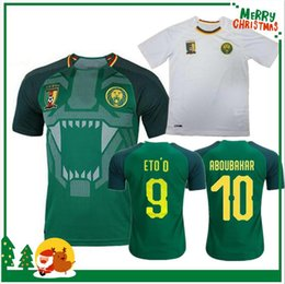 51011b30bae 2018 World Cup Cameroon home away soccer jerseys eto o 17 18 Vincent  Aboubakar Clinton N'Jie Benjamin Moukandjo maillot de foot shirts