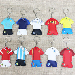 $enCountryForm.capitalKeyWord NZ - Creative key rings national football team jersey key chain world cup souvenir gift for men or women
