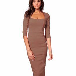 $enCountryForm.capitalKeyWord NZ - Women Dress Slim-fit Skirt Sleeve European and American Style Slim Dress