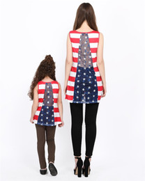 $enCountryForm.capitalKeyWord Canada - Family Matching American Flag Lace Pocket Stripe Back Lace Top Coat Fashion Mother Daughter Matching T-Shirts