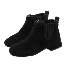 $enCountryForm.capitalKeyWord UK - Women Booties Classic Black Flat Heel Ankle Boots for Women Spring Autumn Fashion Ladies Black Boots Suede Short Boot