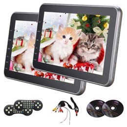 Thin mp4 player online shopping - Eincar Car Headrest quot Ultra Thin Twins Car dvd Monitor Region Free DVD Player Built in FM Transmitter with Remote Control