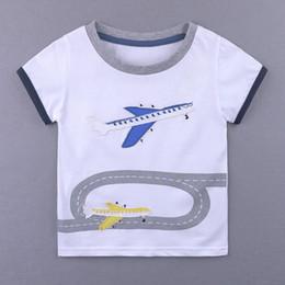 $enCountryForm.capitalKeyWord Canada - Children Summer Baby boys Cute T-shirts Cartoon airplane Short Sleeve Lovely Tshirt for boys Casual summer Tops