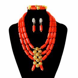 $enCountryForm.capitalKeyWord UK - Brand Boutique Nigerian Wedding Beads Bridal African Beads Jewelry Set Women Party Necklace Earrings Bracelet Set Wholesale FS3-12