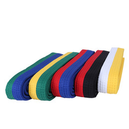 Chinese  1.8M 2.4M Handmade Professional Taekwondo Karate Examination Belt Red Yellow Green Blue Black Martial Arts Belt F manufacturers