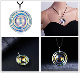 $enCountryForm.capitalKeyWord Australia - Hot Fashion Women Colorful Artificial Round Crystal Pendant Necklace Jewelry Home Party Lovely Gifts Free Shipping