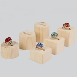 $enCountryForm.capitalKeyWord UK - Original Wood Crafts Ring Display Organizer Round Square Stand Prop Fair Market Kiosk Shop Showcase Jewelry Rings Exhibition