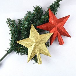 3c77f4d71d7c Hot Novelty 3D Red Gold Christmas Glitter Shiny Star Tree Topper For Home  Festive Party Ornament Decoration