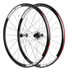 bike wheel straight Australia - LOLTRA Koozer RS1500 Straight pull Alloy not Carbon 30mm Clincher Road Bicycle Wheelset 700c x18-25c tyre 2:1 rear wheel