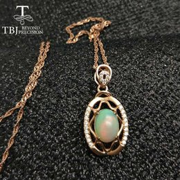 $enCountryForm.capitalKeyWord NZ - TBJ ,925 sterling silver pendant with ethopian opal ,Ethopian Opal good quality necklace with gift box Y1892805