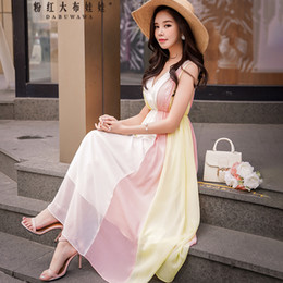 8184c12bc42d Dabuwawa 2018 New Sweet and Temperament Cross V Collar Waistline Sleeveless  Summer Women Dress