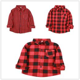 $enCountryForm.capitalKeyWord Australia - Red Baby Boys Shirts Cotton Children Clothes Plaid Girls Tee Shirt Checked Boys T-Shirt Kid Blouses Overshirt Tops Jumpers Soft