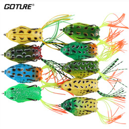 Jigs Lures For Fishing Australia - artificial bait Goture High Quality Soft Fishing Lure Wobbler Frog 5.5cm 12.1g Topwater Artificial Bait For Bass Snakehead Fishing Pesca
