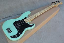 $enCountryForm.capitalKeyWord Australia - Factory Custom 4-string Green Electric Bass Guitar with Black Pickguard,Chrome Hardwares,Maple Fretboard,can be Customized