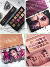 Wholesale the newest huda beauty Colors Eyeshadow Palette NUDE Rose Gold Textured Palette Makeup Eye shadow Beauty Palette Matte Shimmer
