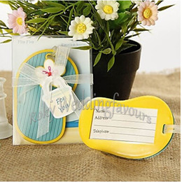 Luggage tags gifts online shopping - Fashioncraft Flip Flop Luggage Tag Beach Theme Wedding Favours Party Giveaways Bridal Shower Event Favors Anniversary Gifts Ideas