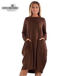 5XL 6XL Plus Size Women Clothing Long Sleeve O-Neck Casual Dress Women  Winter Loose Dress Big Size Office Work Elegant Dress e46d2f913924