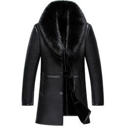 $enCountryForm.capitalKeyWord Australia - Russian winter fox fur jacket, mens leather jacket, new business casual jacket parka, mens sheepskin chaquet 2019NEW