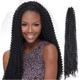 grey braiding hair 2019 - 18inch 90 g Synthetic Water Wave Crochet Braids Hair Extensions One Piece Braiding Bulk Hair Grey Brown cheap grey braid
