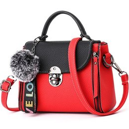 Hit color bolsos de las mujeres de cuero Ladies bolsos de mano 2018 Latest women bag bolso de los bolsos bolsos Fur Toy mujeres Messenger Bags