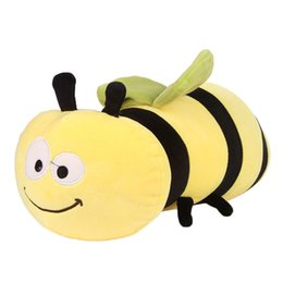 Chinese  45cm Cartoon Stuffed Plush Bee Toys Soft Cute Pillow Super Soft Stuffed Animal Honeybee Doll Birthday Gift For Kids Friends manufacturers