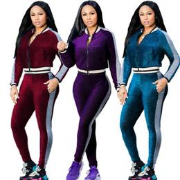 $enCountryForm.capitalKeyWord Canada - Winter Women Velvet Tracksuit Women Costume Velvet Set Long Sleeve Top+Pant Velour Tracksuit Sets for Women Sporting Suit Plus size S-XXL