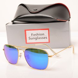 $enCountryForm.capitalKeyWord NZ - high quality Mirror sunglasses New womens sun glasses 3136 fashion Brand Sun glasses design mens sunglasses glass lens With case and box