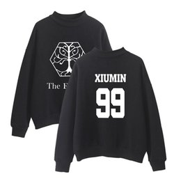 exo pullover UK - EXO Planet 4 The ElyXiOn Album Concert Kpop Turtlenecks Pullover Sweatshirts Women Fashion Kpop Hoodie Clothes