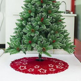 christmas ornaments felt 2018 100cm star pattern printed felt christmas tree skirt ornament for party