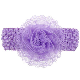 $enCountryForm.capitalKeyWord UK - Fashion 2018 Baby Kids Girls Lace Flower Hairband Elastic Headband For Girls Hair Band sw0720