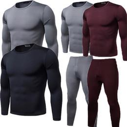 085ca2bced57d 2018 Winter Warm 2Pcs Men Underwear Long Johns Thermal Underwear Tops  Bottoms Trousers Plus Size L-2XL