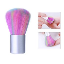 nail art care tools brush Australia - Rainbow Soft Nail Art Dust Brush UV Gel Acrylic Powder Dust Remover DIY Beauty Manicure Cleaning Tools Nail Care Salon Tools