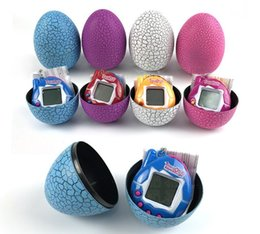 Wholesale High quality Multi colors Dinosaur egg Virtual Cyber Digital Pet Game Toy Tamagotchis Digital Electronic E Pet Christmas Gift
