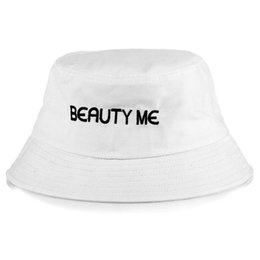 $enCountryForm.capitalKeyWord Canada - New.2018 Fashion beauty me bucket cap Foldable Fishing Caps Black Fisherman Beach Sun Visor Sale Folding Man Bowler Cap For Mens Womens