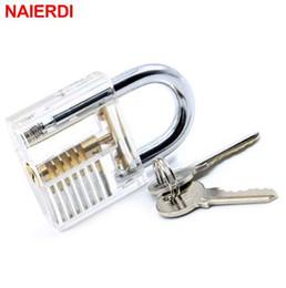 $enCountryForm.capitalKeyWord Australia - NAIERDI Locksmith Transparent Visible Locks Pick Cutaway Practice View Padlock 78x50mm Lock Training Skill For Tools Hardware
