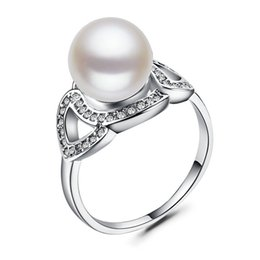$enCountryForm.capitalKeyWord UK - Luxury Pearl Wedding Jewelry 925 Silver Filled Brand Finger Ring For Women Engagement Gift Hot Sale Size 6-10