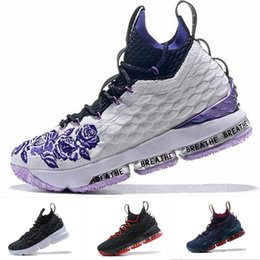 2884bb63d24 with box 2018 Newest James Purple Rain Ashes Ghost 15 CAVS Men Basketball  Shoes 15s Equality Mens XV Casual Trainer sports Sneakers 40-46