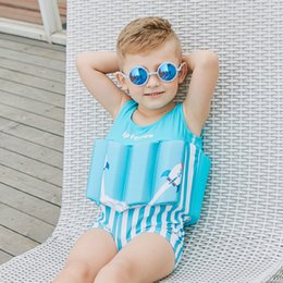 Swimwear Infant Australia - Children swim wear Infant Baby Swimwear for Girls Boys Learn Swimming Buoyancy Life Jacket Vest Swimsuit Bathing Suits Drop shipping H