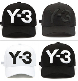 Discount embroidered visors - 2018 New Y-3 Dad Hat Big Bold Embroidered  Logo Baseball bf51168cbbd