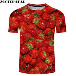 Strawberry Tees Canada - Strawberry tshirt 3D Print T shirt Men Women t-shirt Summer Tee Harajuku Tops Streatwear Camiseta Short Sleeve O-neck Drop ship