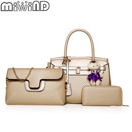 Best White Bags Australia - Women Bags Handbags Shoulder Bag For Female High Quality Luxury Leather Best Texture Fashion elegant 3-Piece Set MIWIND 2018 New