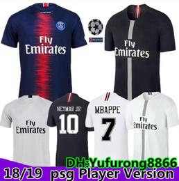 509c29e93 Player Version PSG mbappe black PARIS white champions league maillot de  foot 2018 2019 Paris 9 CAVANI CHOUPO-MOTING third 3rd soccer jersey