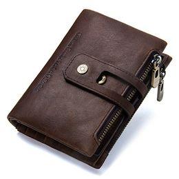$enCountryForm.capitalKeyWord Canada - Men Wallet Genuine Leather Bag Men Money Bag Male Purse Zipper Card Holder Wallet Coins Clutch Male's Fashion High Quality