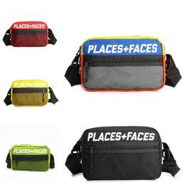 LUGARES + CARAS Fanny Pack Travel Sport Pouch Skateboards Hombres Mujeres Bolsa de hombro Bolsas de mensaje al aire libre Mini teléfono móvil Packs Bolsa de almacenamiento